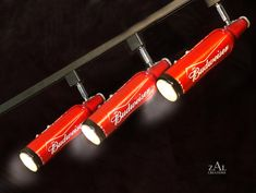 Beer bottles Track Lighting Fixture 3 Track lights by ZALcreations, $260.00