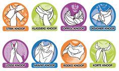 Acht knooptips in één afbeelding. #sjaals