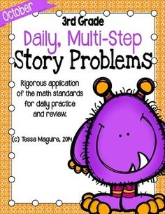 3rd Grade Problem of the Day Story Problems- October