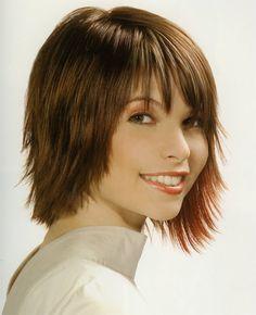 short haircut wispy bangs