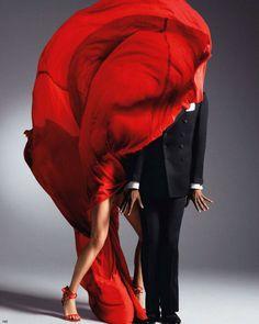 Raquel Zimmermann and choreographer Stephen Galloway      by Inez & Vinoodh for Vogue Nippon