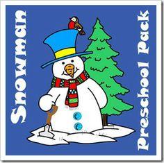 holiday activ, idea, winter, preschool printables, homeschool, preschool pack, blog, snowman preschool, preschools