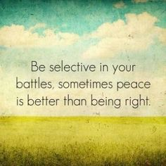 Battles and peace