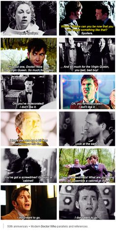 50th anniversary - modern Doctor Who parallels and references *the feels*