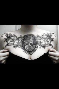 Beautiful cameo tattoo