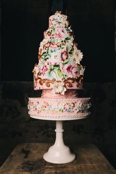 Amazing Hand Painted Multi-Tiered Garden Cake