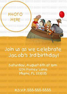 Winnie the Pooh party invite