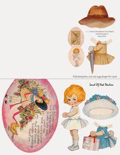 Landofnodstudio's: Free Image Friday - Little Olive the Easter Paper Doll
