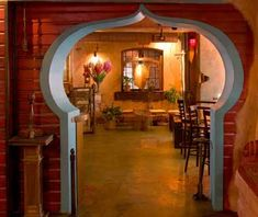 Zambra ... romantic, atmospheric Moorish theme multi-roomed space  on Walnut St., below Malaprop's bookstore. One of my Asheville favorites! Wonderful eclectic tapas menu and great wine list ... some nights may include a jazz trio or belly dancers.