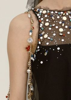 fashion, party dresses, bead, bag, runway, pills, medicines, vintage chanel, embellishments