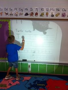 Smartboard literacy center