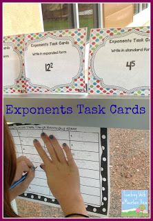 Teaching Exponents. Anchor charts and freebies!