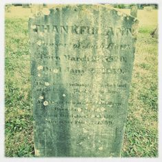 Tombstone Tuesday: Thankful Ann Hiatt and Twins (1839) #genealogy #familyhistory