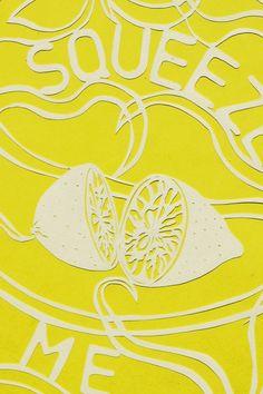 Original Retro Lemon Paper Cut. £20.00, via Etsy.