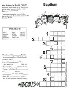 baptism kids games on Pinterest | Coloring Pages, Baptisms and Sunday ...