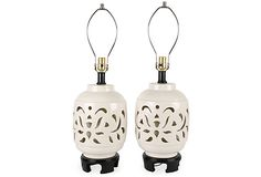 White Oriental-Style Lamps
