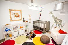 a jungle-themed nursery for the modernist