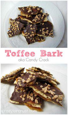 Toffee Bark  crazyforcrust.com