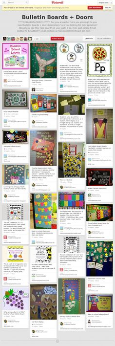 Bulletin Boards + Doors Pinterest Board - endless ideas!