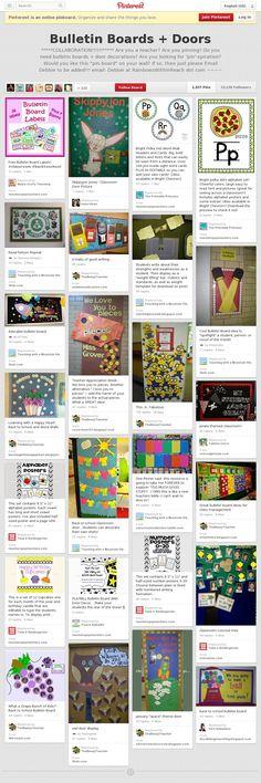 Bulletin Boards + Doors Pinterest Board - endless ideas!
