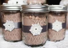 warm favor ideas for winter weddings | hot cocoa