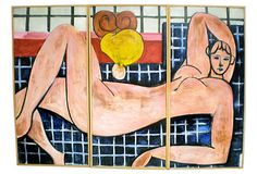 Reclining Nude Tryptic Painting on OneKingsLane.com
