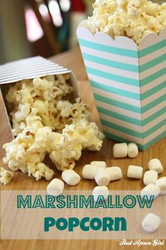 Marshmallow Popcorn. So easy and a nice twist on caramel corn