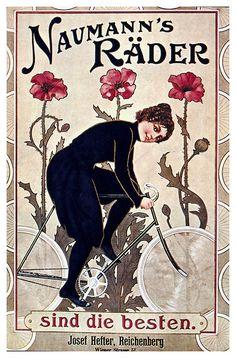 Carteles de bicicletas antiguas, via Flickr.