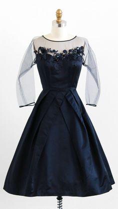 1950's Silk Evening Dress