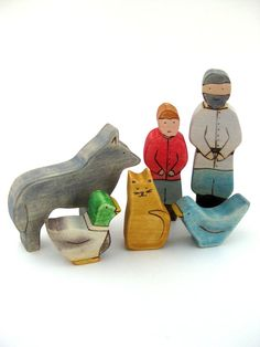 Waldorf Toy  Peter and the Wolf Wood Toy Play by ArmadilloDreams, $45.00