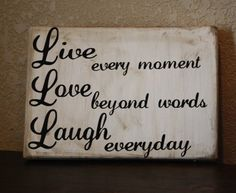 Live Love Laugh sign by BlockaDoodle on Etsy, $9.99