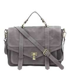 Faux Leather Messenger Bag//
