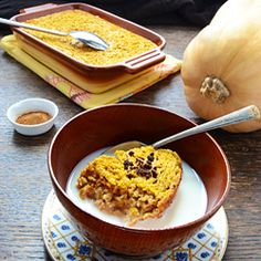 Baked Oatmeal with Pumpkin