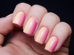 Raiding My Drafts: Blushing Peach Gradient | Chalkboard Nails | Nail Art Blog