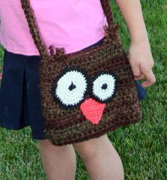 Crochet Owl Purse Crazy Eyes Owl by GoodKarmaCrochet on Etsy, $26.00