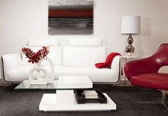 Salon living room on pinterest for Mobilier contemporain
