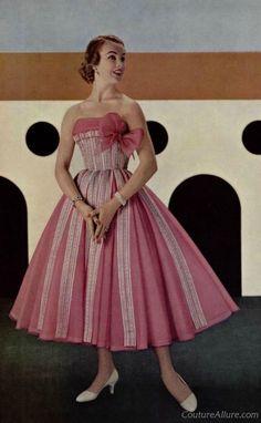 Jean Desses, 1956  Couture Allure Vintage Fashion