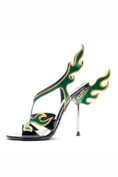 Prada via style.com #Heels #Prada