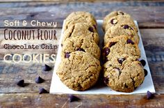 Soft & Chewy Coconut Flour Chocolate Chip Cookies (gluten free!) … & Fave Five Friday: Healthy Mother's Day Brunch Eats