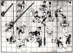 Charlie Chaplain Snakes and Ladders - Up and Down game
