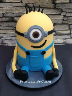 Minion Cake by Francesca's Cakes, Barry, Vale of Glamorgan, UK. You'll find this Cake Appreciation Society Member in our Directory at www.cakeappreciationsociety.com