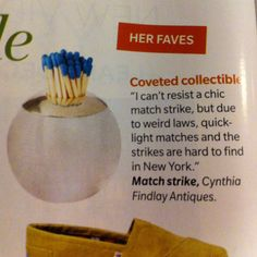 Antique match strike. Ft in house & home dec 2011