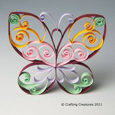 Quilling Butterfly Pattern / Tutorial, $5