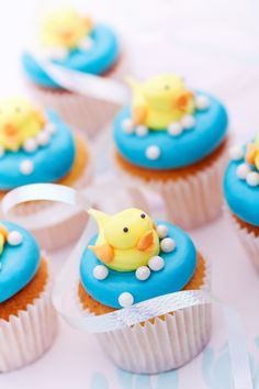Ducky Baby Shower Cupcakes