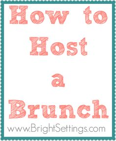 Hosting a brunch is a fantastic alternative to evening entertaining. Brunches are simple to plan and more relaxed than a dinner party but every bit as special! Here are some tips for how to host a brunch of your own! Set the scene by creating a casual yet refined atmosphere. Simple table linens, cloth napkins... More