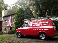 We love our patriotic customers just a little bit more! Proud to be American. Chimney Cricket, Inc. at work in picturesque Delaware County, PA.