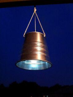 Make your own rustic hanging solar lights #DIY
