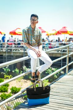 #Summertime with @Closet_Freaks wearing #HudsonJeans #White Byron Straight Leg #cuffed to #perfection.