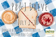 Our PB Drive is back too! All month long in July #kids can donate jars of pb to help feed the hungry. They'll become members of #KidsClub, get a fun certificate, & get discounts at kid-friendly businesses! #AZ #Mesa #Chandler #Gilbert #Tempe #hunger