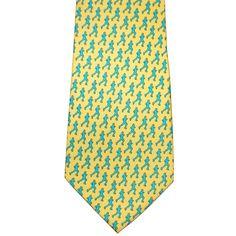 Runner Silk Tie - Yellow